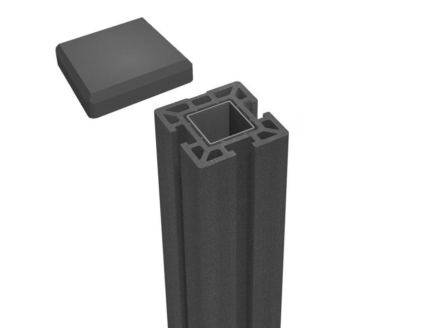 wpc pfosten dunkel grau zum einbetonieren k p holz. Black Bedroom Furniture Sets. Home Design Ideas