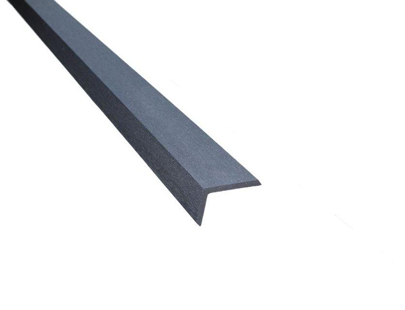 abschlussleisten in dark grey f r wpc dielen kp. Black Bedroom Furniture Sets. Home Design Ideas