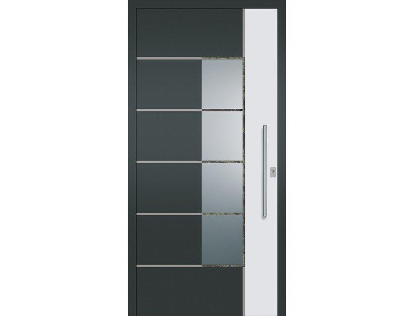 Aluminium Haustür Modell 5004 verschieden Farben - KP-Holzshop.de