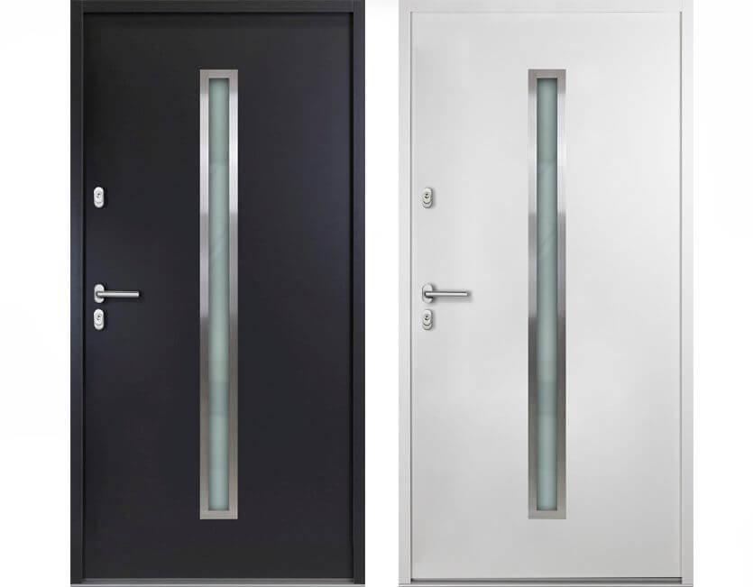 aluminium t r mit fenster online kaufen kp holzshop de. Black Bedroom Furniture Sets. Home Design Ideas