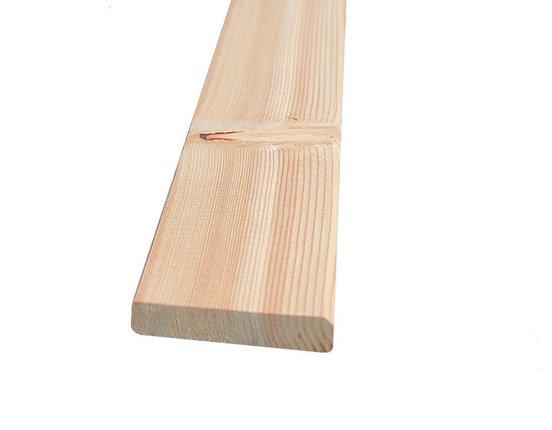 Glattkantbretter Sibirische Lärche 19 x 120 mm L: 3.00 + 4.00 + 5.10 m gehobelt