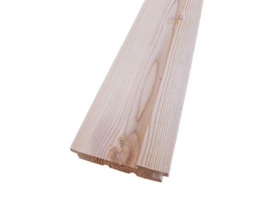 Boden Deckel Profil Sibir. Lärche 27 x 140 mm L: 3.00 + 4.00 + 5.10 m