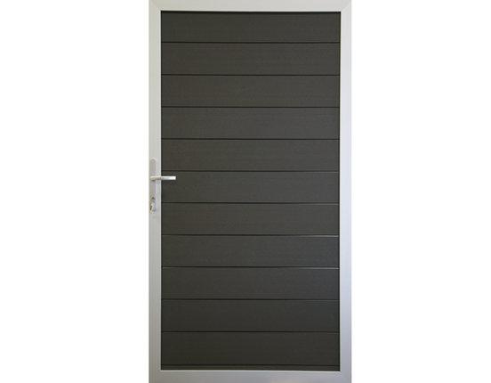 terrasso WPC / BPC Tor für Sichtschutzzaun 100 x 180 cm Life dark grey