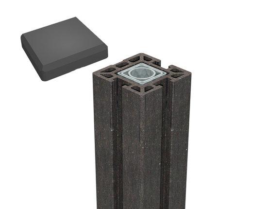 terrasso WPC/BPC Life Torpfosten zum einbetonieren dark grey L: 237 cm