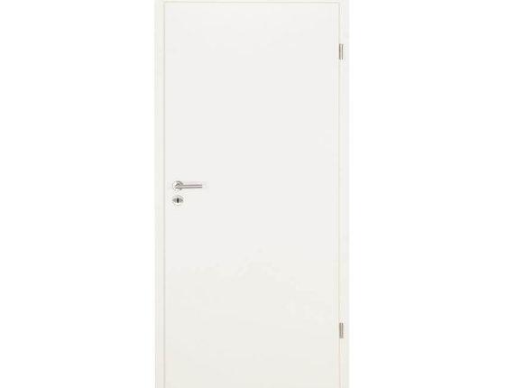 Zimmertür mit Zarge CPL weiss Brillant Röhrenspanstreifen Rundkante