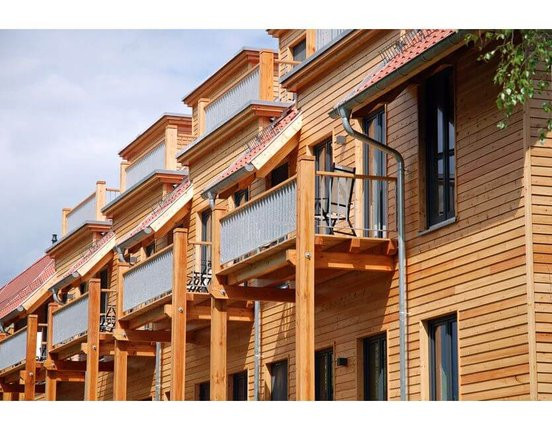 Rhombus Leisten Sibirische Lärche 21 x 65 mm L: 3.00 + 4.00 + 5.10m scharfkantig