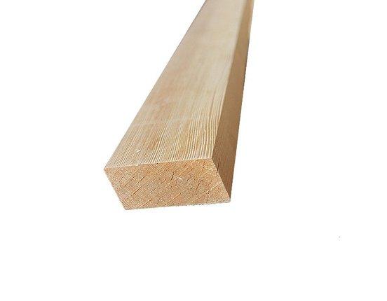 Rhombus Leisten Sibirische Lärche 28 x 65 mm L: 3.00 + 4.00 + 5.10m scharfkantig