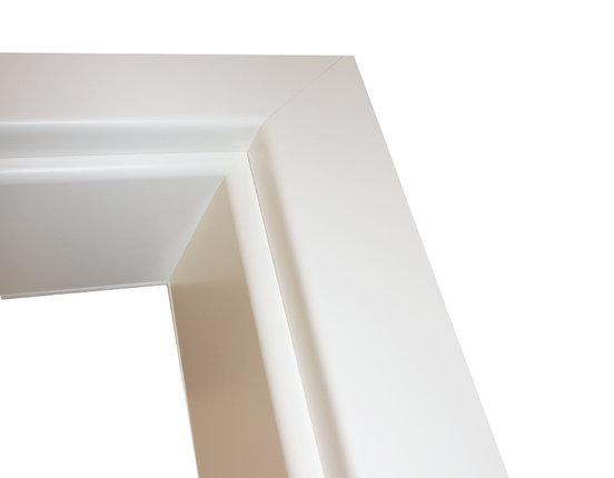 kuporta Zarge weißlack Brillant Rundkante für Glastür