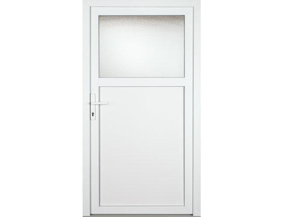 Kellertür Nebeneingangstür Kunststoff Mod.K601 weiß nach Maß