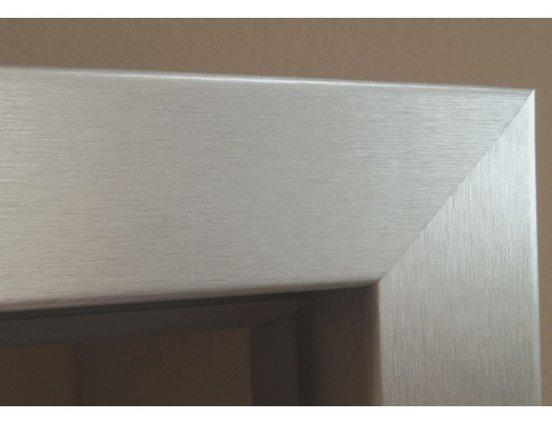kuporta Zarge Aluminium ummantelt Brillant Rundkante für Glastür Wohnungstür