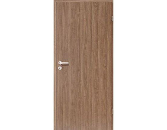 WESTAG Zimmertür mit Zarge CPL Nußbaum noce NU736 Röhrenspanplatte Rundkante