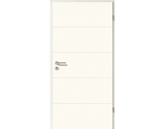 Zimmertür Element weißlack Pisa smart inkl. Drücker Röhrenspanplatte Eckkante