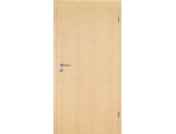 LEBO Zimmertür mit Zarge CPL Ahorn Röhrenspanstreifen Rundkante