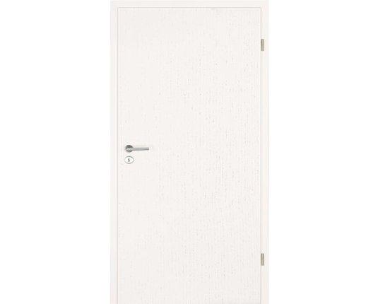 LEBO Zimmertür mit Zarge CPL Esche weiss Brillant Röhrenspanplatte Rundkante