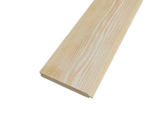 Fasebretter Nut und Feder Sibirische Lärche 27 x 140 mm L: 3.00 + 4.00 + 5.10 m