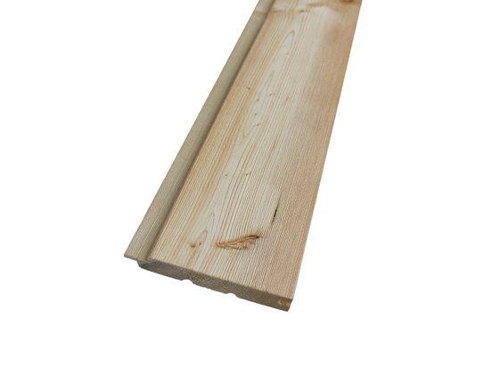Profilholz Sibirische Lärche Rundprofil Softline 27 x 140 mm 3.00 + 4.00 + 5.10m