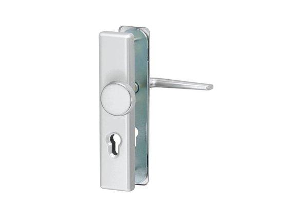 Türdrücker Atlas Aluminium PZ-Schutzbeschlag Nebeneingangstür Wohnungstür