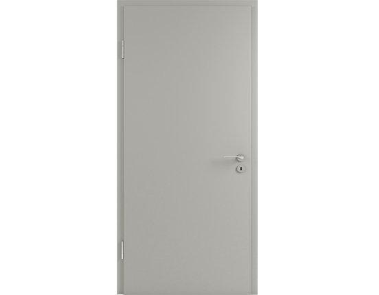 Wohnungstür mit Zarge CPL Silbergrau Brillant KKL III 32db Rundkante