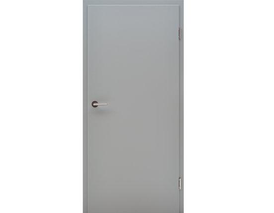 Zimmertür mit Zarge CPL Flint Grey Röhrenspanplatte Eckkante