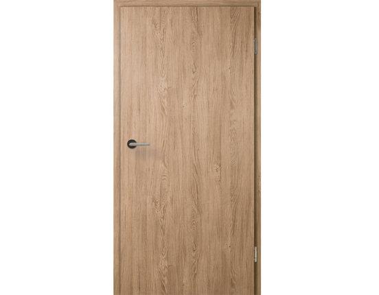 Zimmertür mit Zarge CPL Raucheiche Röhrenspanplatte Rundkante