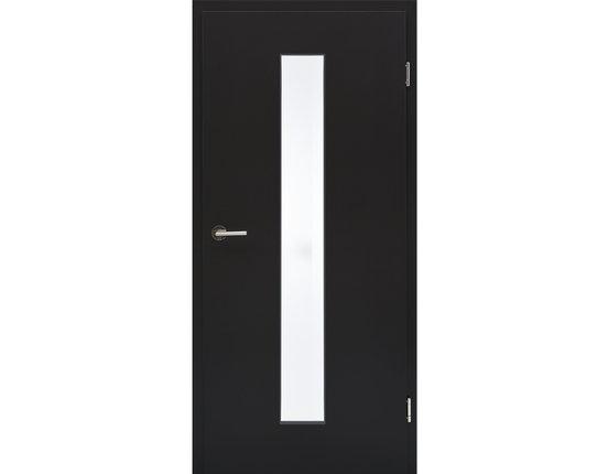 Zimmertür mit Zarge CPL Orca Lichtausschnitt schmal mittig Eckkante