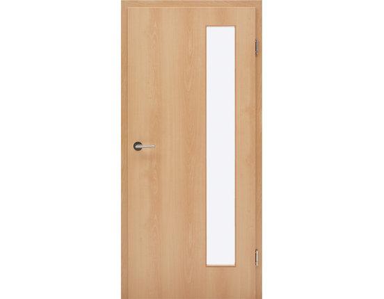 Zimmertür mit Zarge CPL Rotbuche hell Lichtausschnitt schmal Rundkante