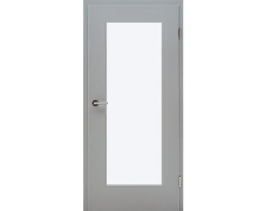 Zimmertür mit Zarge CPL Flint Grey LA 16/20 Lichtausschnitt Eckkante