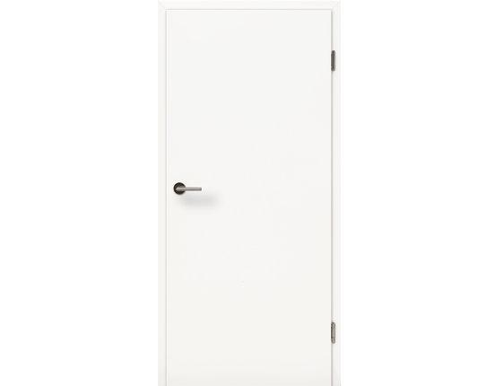 Wohnungstür mit Zarge CPL Uni weißlack Typ42 KKL III 27db Rundkante