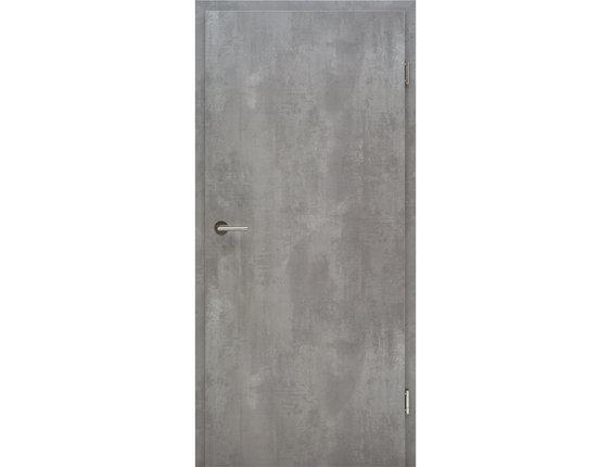 Wohnungseingangstür mit Zarge CPL Concrete Vollspan KKL III 27db Eckkante