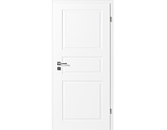 Zimmertür mit Zarge Narva 3F weißlack Rundkante