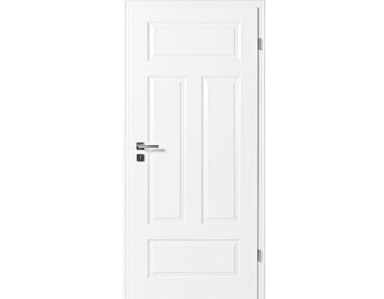 Zimmertür mit Zarge Narva 4FS weißlack Eckkante