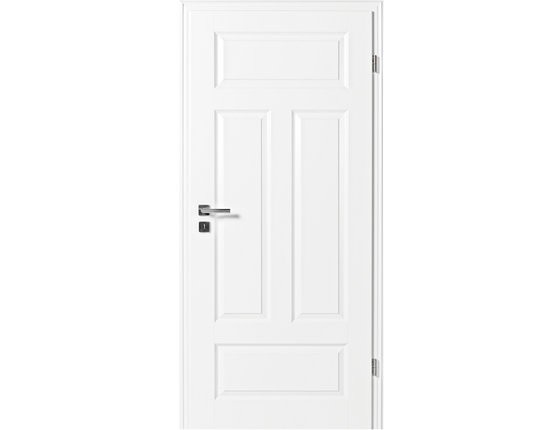 Zimmertür mit Zarge Narva 4FS weißlack Rundkante