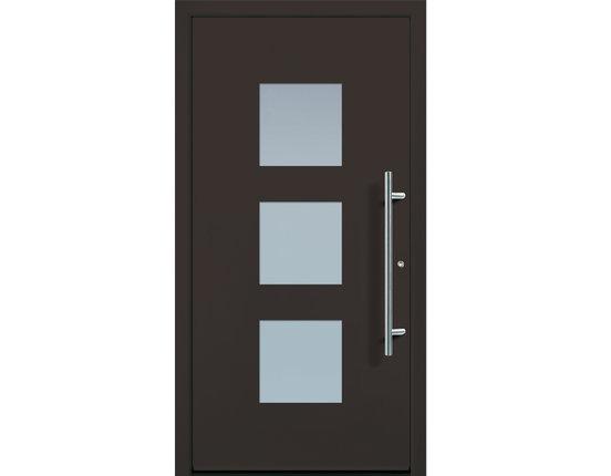 Groke Aluminium Haustür beidseitig flügelüberdeckend A12361 Glas-/Farbwahl RC2
