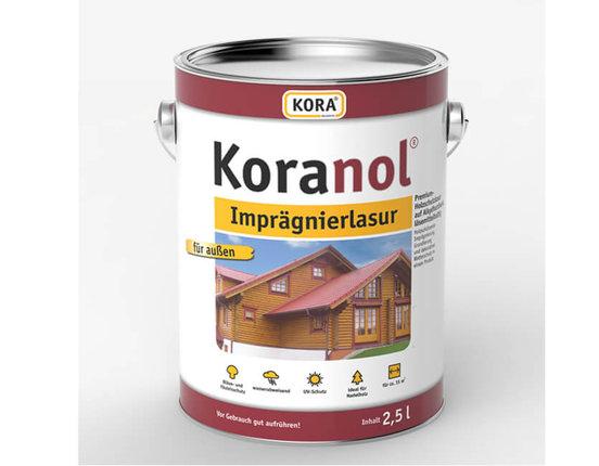 Koranol Imprägnierlasur 2,5 Liter Gebinde verschiedene Farben