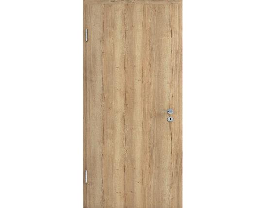LEBO Zimmertür mit Zarge CPL Eiche Vintage Brillant Röhrenspanplatte Rundkante