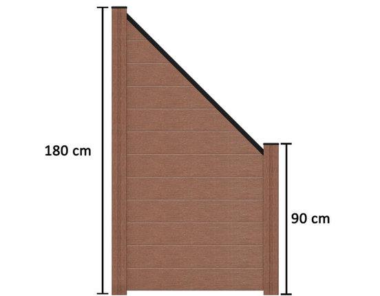 terrasso wpc bpc sichtschutzzaun abgeschr gt 90 x 180 90 cm terrabraun kp holz shop. Black Bedroom Furniture Sets. Home Design Ideas