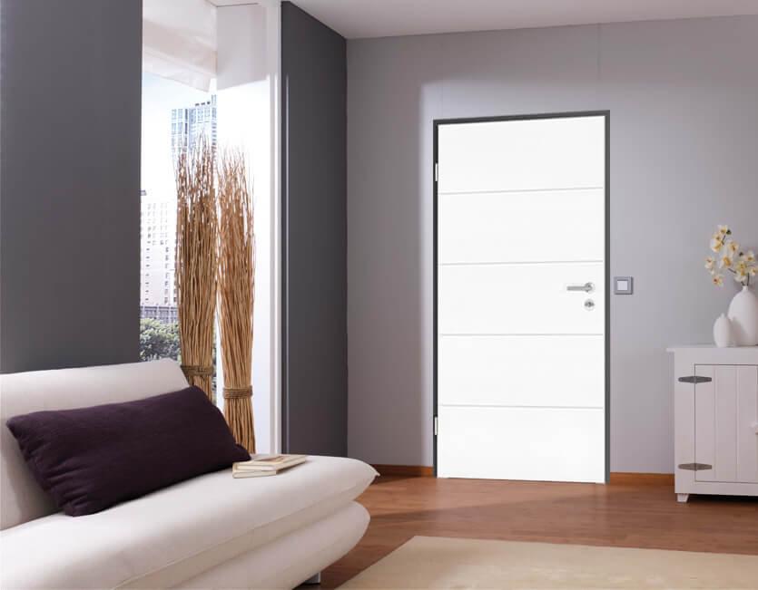 Zimmertüren anthrazit  Weißlack Zimmertür inkl. Zarge anthrazit bestellen - K+P Holz