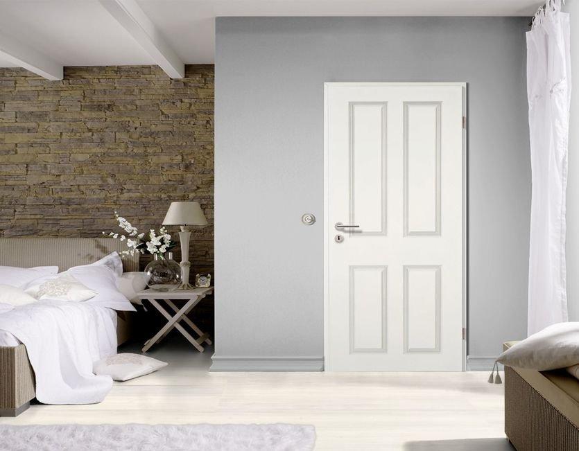 landhaust ren wei lack inkl zarge g nstig kp. Black Bedroom Furniture Sets. Home Design Ideas