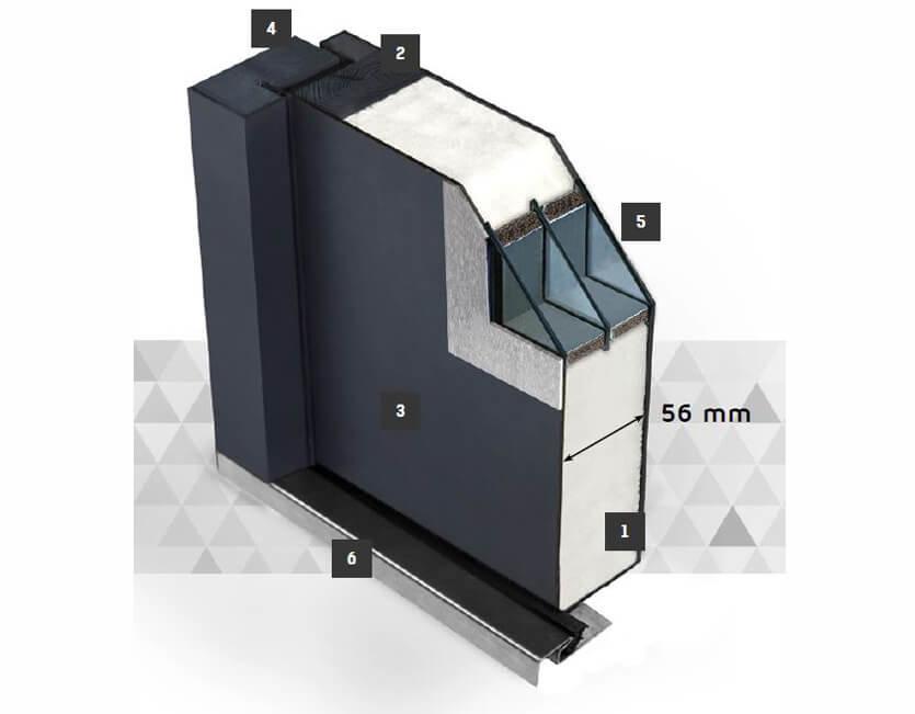 aluminium t r ohne fenster online kaufen kp holzshop de. Black Bedroom Furniture Sets. Home Design Ideas