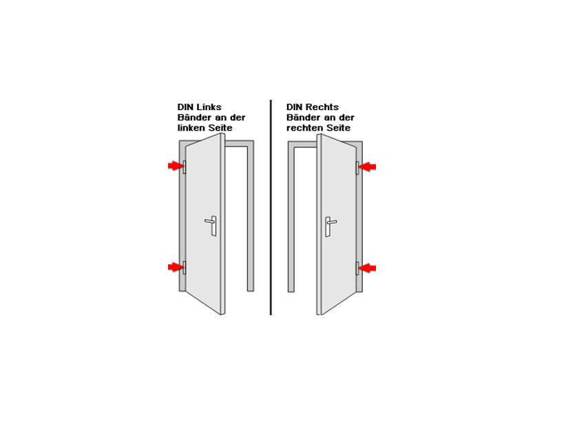 kuporta Kunststoff Haust/ür England T/üren 98 x 190 cm DIN links wei/ß mit Sto/ßgriff-Set Montageset Fugendichtband
