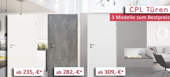 Weiße Zimmertüren mit Zarge und Drücker zum Toppreis bei kp-holzshop.de