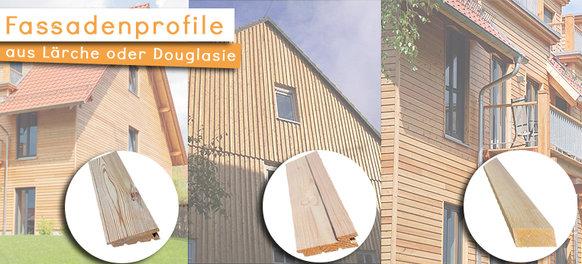 Fassadenprofile aus Douglasie oder Lärche