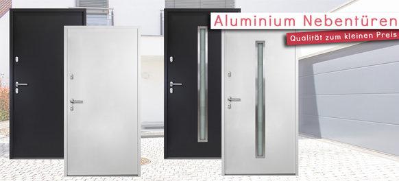 Aluminium Türen für den Nebeneingang und Keller