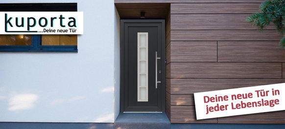 Nebeneingangstür beziehungsweise Kellertür aus Kunststoff