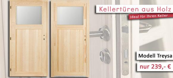 Kellertüren aus Holz mit Fenster